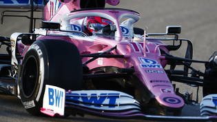 Stein des Anstosses: Die Autos des Formel-1-Teams Racing Point