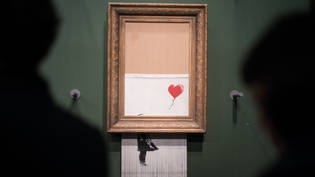 "Banksy, der Marketingstratege: Indem der britische Street-Art-Künstler sein ""Girl with Balloon"" schredderte, schuf er mit ""Love is in the Bin"" ein neues Objekt der Begierde."